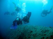 Explorer l'épave Image stock