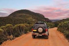 Explorer l'Australie bleue de montagnes Photographie stock