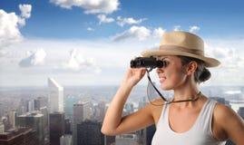 Explorer la ville photos libres de droits