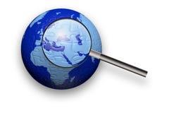 Explorer le monde du puzzle Image stock
