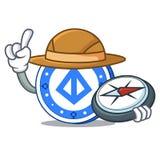 Explorer loopring coin mascot cartoon. Vector illustration Royalty Free Stock Photography