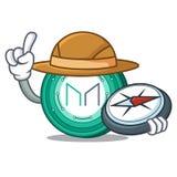 Explorer Maker coin mascot cartoon. Vector Illustration Stock Image