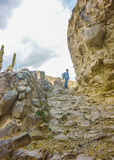 Explorer Man in Colca Valley Royalty Free Stock Photo