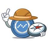 Explorer Nano coin mascot cartoon. Vector illustration Stock Photos