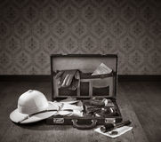 Explorer packing for a travel Stock Photos