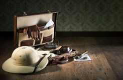 Explorer packing for a travel Royalty Free Stock Image