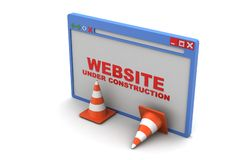 Explorer page with traffic cone Stock Images