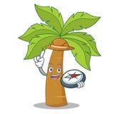 Explorer palm tree character cartoon Stock Image