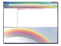 Explorer rainbow design Stock Photography