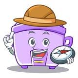 Explorer rice cooker character cartoon Stock Photos