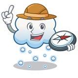 Explorer snow cloud character cartoon Royalty Free Stock Image