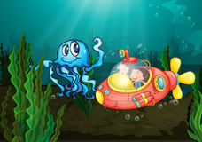 Explorer sous la mer illustration libre de droits