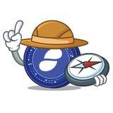 Explorer Status coin mascot cartoon. Vector illustration Royalty Free Stock Images
