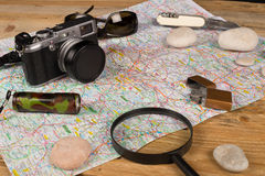 Explorer still life Royalty Free Stock Image