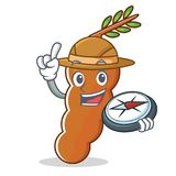 Explorer tamarind mascot cartoon style. Vector illustration Royalty Free Stock Photos