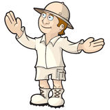 Explorer Tour Guide. Explorer or tour guide showing off a place or object vector illustration