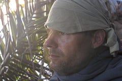 Explorer wearing mosquito net Royalty Free Stock Photo