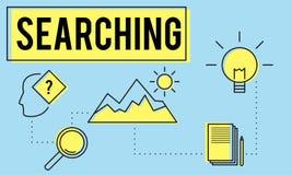 Explorez le concept de Research Searching Study d'explorateur illustration stock