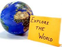 Explorez le monde Images stock