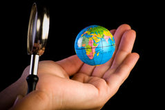 Exploring A Globe Stock Images