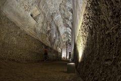 Exploring antique roman ruins Royalty Free Stock Image