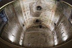 Exploring antique roman ruins Stock Photos