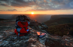 Exploring Australia - Sunset Blue Mountains Royalty Free Stock Images