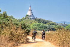 Exploring Bagan Stock Photo