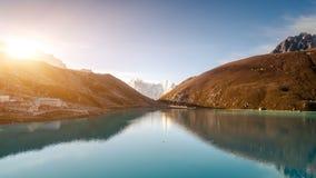 Exploring beauty world: trekking in Himalaya stock video