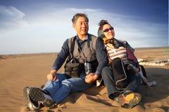 Exploring the desert Royalty Free Stock Photo