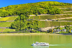 Exploring Germany with the ferry on Mosel river Stock Image