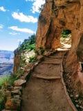 Exploring Grand Canyon Arizona USA stock image