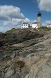 Exploring Historic Rhode Island Lighthouse Royalty Free Stock Image