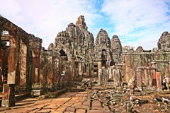 Exploring Historical ruins of Cambodia Stock Photos
