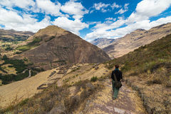 Exploring Inca Trails and Terraces of Pisac, Peru Royalty Free Stock Image