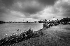 Exploring the sites of Auckland, New Zealand stock photography