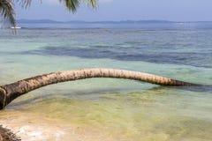 Exploring small caribbean Island, San Blas Islands Stock Image