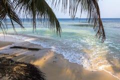 Exploring small caribbean Island, San Blas Islands Royalty Free Stock Image