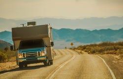 Mojave Desert RV Trip Stock Images