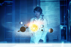 Exploring space planets Royalty Free Stock Image