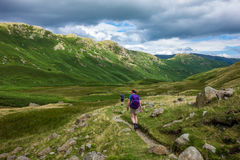 Exploring Trails in England`s Lake District Royalty Free Stock Photo