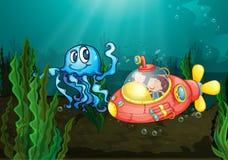 Exploring under the sea Stock Photos