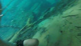 Exploring Underwater stock footage
