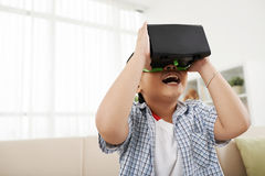 Exploring virtual reality Stock Images