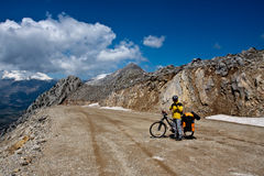 Exploring the world by bicycle. Stock Photo