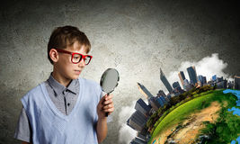 Exploring the world Stock Image