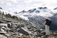 explorring glaciärnationalpark Arkivbilder