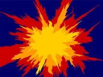 Explosão 2 ilustração do vetor