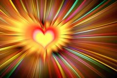 Explosão abstrata da cor para o fundo do Valentim ilustração royalty free