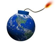 Explosão abstrata da terra Ilustração Stock